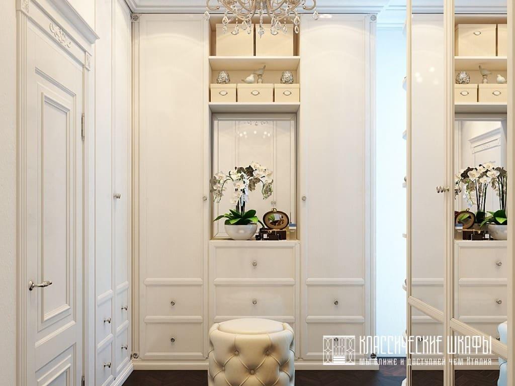 Современные гардеробные шкафы классика